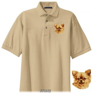Chihuahua Polo Shirt - Embroidered (Longhair)