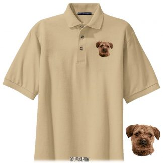 Border Terrier Polo Shirt - Embroidered