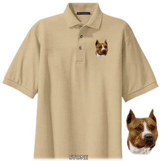 Staffordshire Terrier Polo Shirt - Embroidered