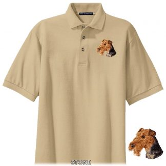 Airedale Terrier Polo Shirt - Embroidered