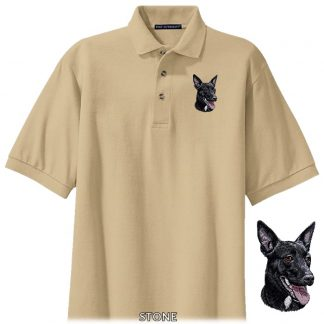 Australian Kelpie Polo Shirt - Embroidered (Black)