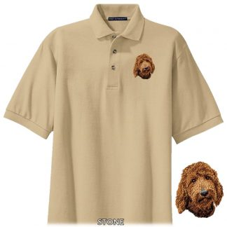 Goldendoodle Polo Shirt - Embroidered (Red)