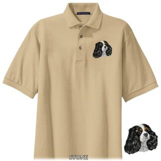 Tri Cavalier Spaniel Polo Shirt - Embroidered