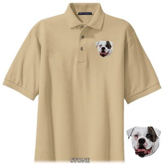 American Bulldog Polo Shirt - Embroidered (Patch)