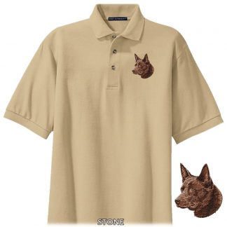 Australian Kelpie Polo Shirt - Embroidered (Red)