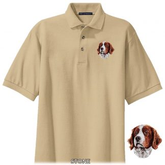 Irish Setter Polo Shirt - Embroidered (Red White)
