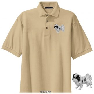 Japanese Chin Polo Shirt - Embroidered (Black)