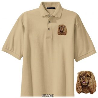 Ruby Cavalier Spaniel Polo Shirt - Embroidered
