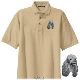 Silver Poodle Polo Shirt - Embroidered