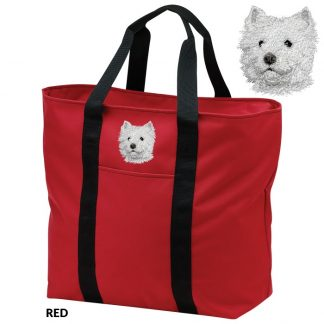 West Highland Terrier Tote Bag - Embroidered