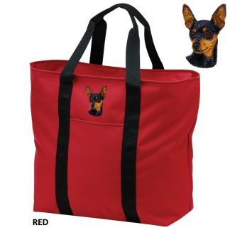 Miniature Pinscher Tote Bag - Embroidered