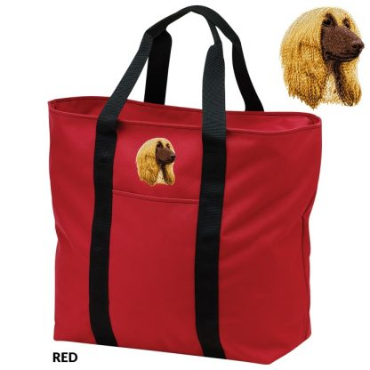 Afghan Hound Tote Bag - Embroidered