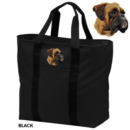 Boxer Tote Bag - Embroidered (Uncropped)