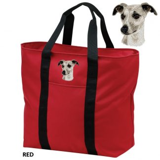 Whippet Tote Bag - Embroidered
