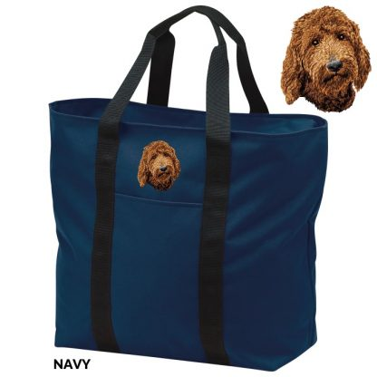 Goldendoodle Tote Bag - Embroidered (Red)