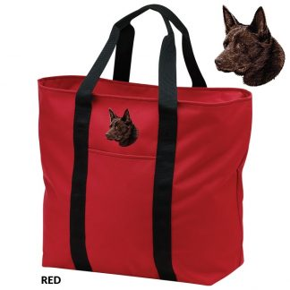 Australian Kelpie Tote Bag - Embroidered (Chocolate)