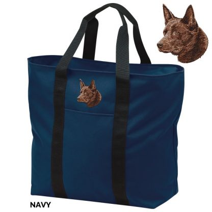 Australian Kelpie Tote Bag - Embroidered (Red)