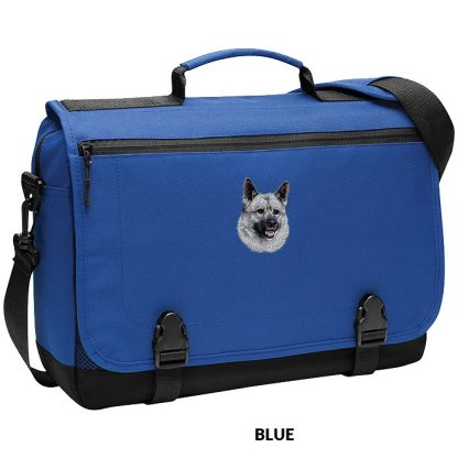Norwegian Elkhound Laptop Bag - Embroidered