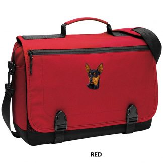 Miniature Pinscher Laptop Bag - Embroidered