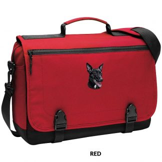 Australian Kelpie Laptop Bag - Embroidered (Black)