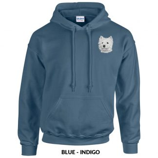 West Highland Terrier Hoody Pullover - Embroidered