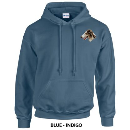 Borzoi Hoody Pullover - Embroidered