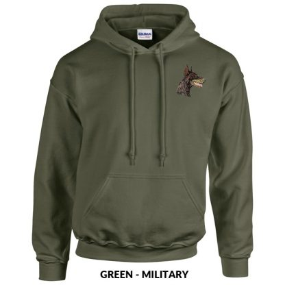 Doberman Pinscher Hoody Pullover - Embroidered (Red)