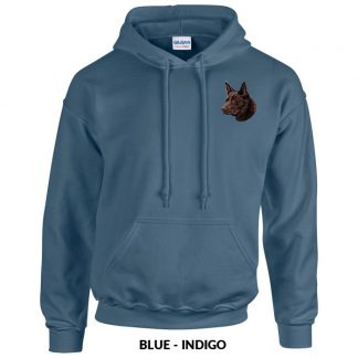 Australian Kelpie Hoody Pullover - Embroidered (Chocolate)