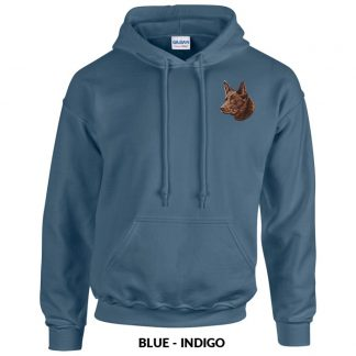 Australian Kelpie Hoody Pullover - Embroidered (Red)
