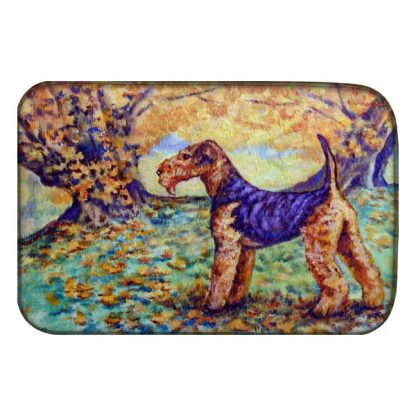 Airedale Terrier Dish Drying Mat