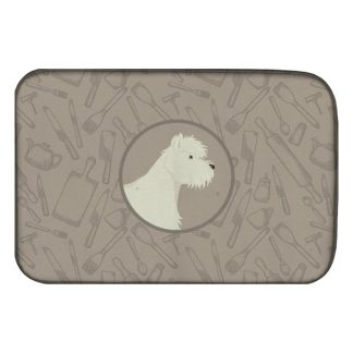 West Highland Terrier Dish Drying Mat - Classy Kitchen