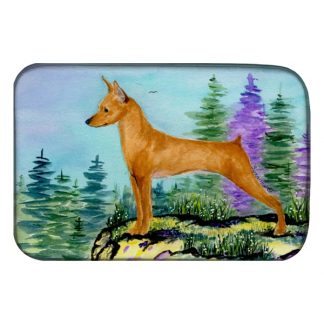 Miniature Pinscher Dish Drying Mat