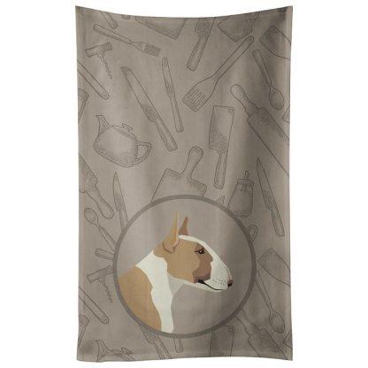Bull Terrier Kitchen Towel (Fawn White) - Classy Kitchen